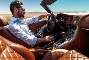 Luxury car drive image