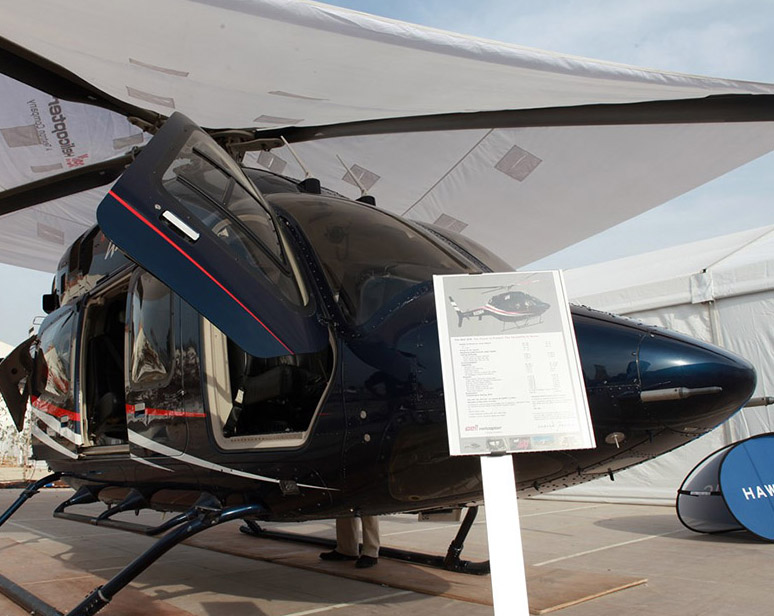 Aviation-category black helicopter